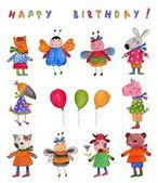 Happy Birthday. Greeting card — Stock Photo