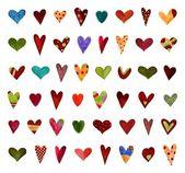 Hearts. Set of decorative elements — Stock Photo