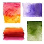 Set of watercolor abstract background — Stock Photo