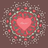 L'amour dans le cœur — Vecteur