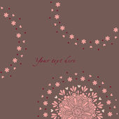 Floral card — Vettoriale Stock