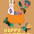 Easter card — Stock Vector #9380489