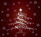 Stylish Christmas tree — Stock Photo