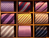 Multiple colors ties — Stock Photo