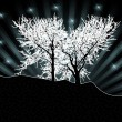 White trees silhouettes — Stock Photo