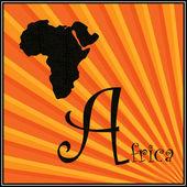 Een is voor afrika — Stockvector