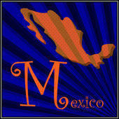 M is for Mexico — Stock Vector