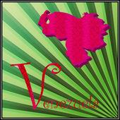 V est pour le venezuela — Vecteur