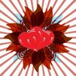 Shining Valentine hearts — Stock Photo