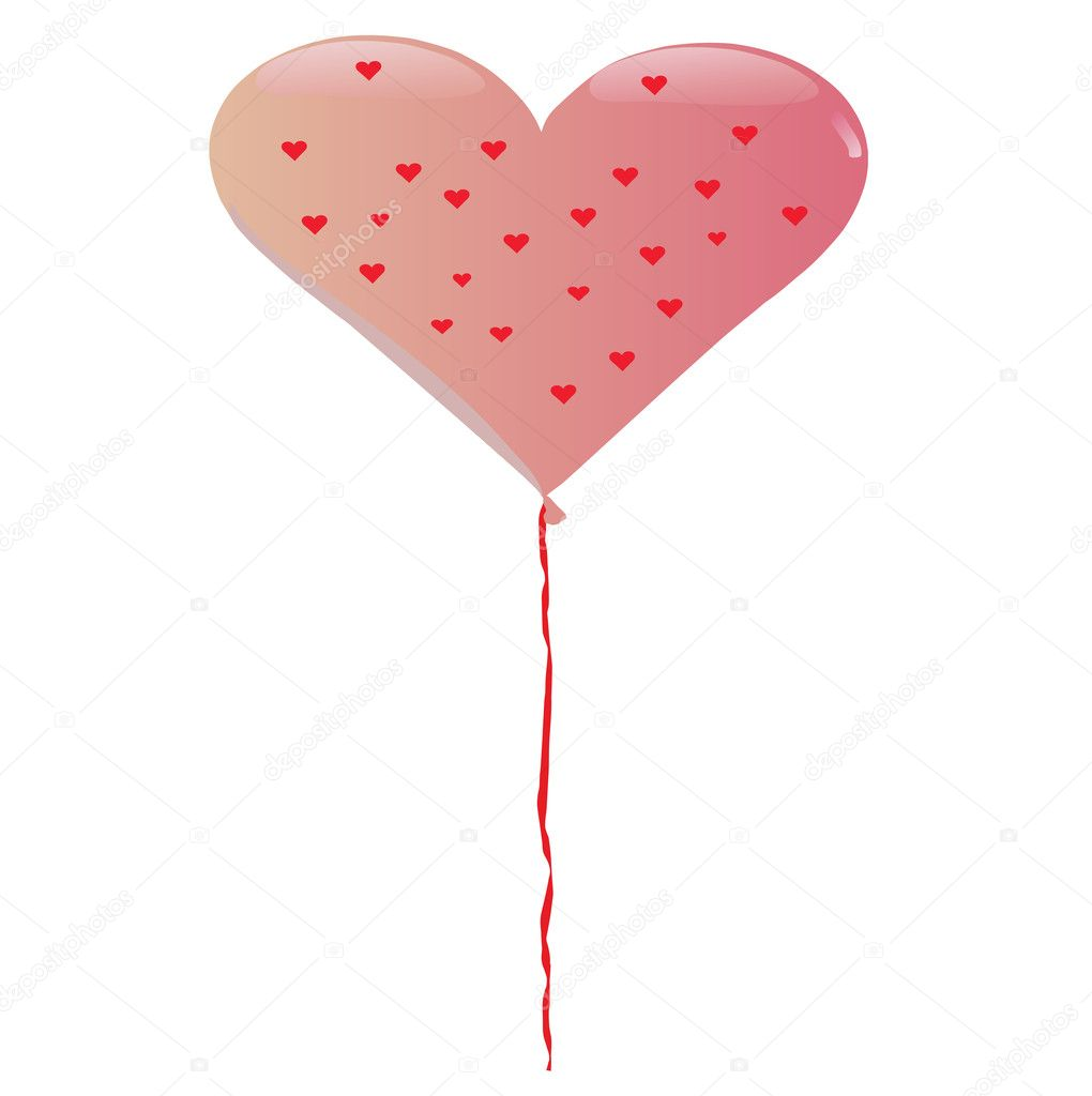 A valentine balloon — Stock Vector #8249520