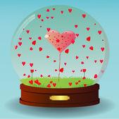 Valentine Globe — Stock Vector
