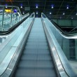 Stock Photo: Ascending escalator in public transport area