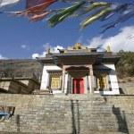 Monastery in upper pisang, annapurna, nepal — Stock Photo #8044417