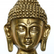Bronze satue of buddha on display — Stock Photo