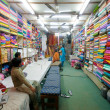 Stock Photo: Fabric shop