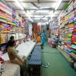 Fabric shop — Stock Photo