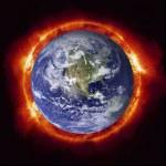 Sun burning earth — Stock Photo