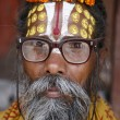 Saddhu in durbar square, kathmandu, nepal — Stock Photo
