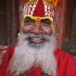 Stock Photo: Saddhu in durbar square, kathmandu, nepal