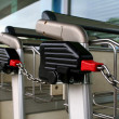 Stock Photo: Trolleys chained