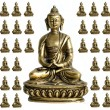 Stock Photo: Central Buddhwith surrounding miniatures