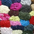 Stock Photo: Woolen yarn background composition