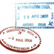 Visa passport stamp from India — Stock Photo #8045146
