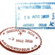 Stock Photo: Vispassport stamp from India