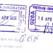 Vispassport stamp from Vietnam — Stock Photo #8045154