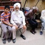 Sikh man and grandson — Stock Photo