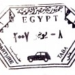 Stock Photo: Visa passport stamp from Egypt