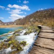 Plitvice pathway — Stock Photo