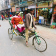 Rickshaw passenger — Stock Photo