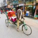 Rickshaw passenger — Stock Photo