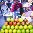 Fruit juice stall — Stock Photo