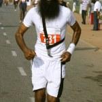 Sikh man at the marathon, delhi, india — Stock Photo #8046065