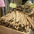 Cinnamon on display in local market — Stock Photo