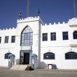 White castle police station in dahab, red sea, sinai, egypt - Stock Photo
