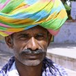 Portarit of a farmer, rajasthan, india — Stock Photo