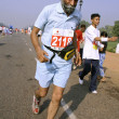 Old sikh man at the marathon, delhi, india — Stock Photo