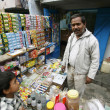 scena presso candy shop, delhi, india — Foto Stock