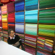 Stock Photo: Mat fabric showroom, delhi, india