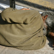 Man sleeping on sidewalk, delhi, india — Stock Photo