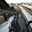 Stock Photo: Crowded new delhi railway station, delhi, india