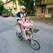 Stock Photo: Grand father and kids