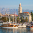 Harbour Old town Split — Stock Photo