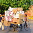 Packages on bicycle - Foto Stock
