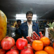 Juice bar in Delhi — Stockfoto