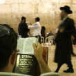 Hasidic jews at the wailing western wall, jerusalem, israel — Stock Photo #8046948