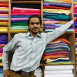 Male shopkeeper-fabric — Photo